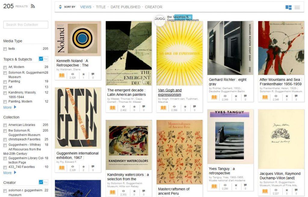 Plus de 200 livres d'art en libre accès